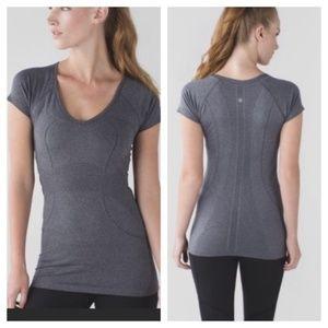 Lululemon Swiftly VNeck Short Sleeve Grey 12